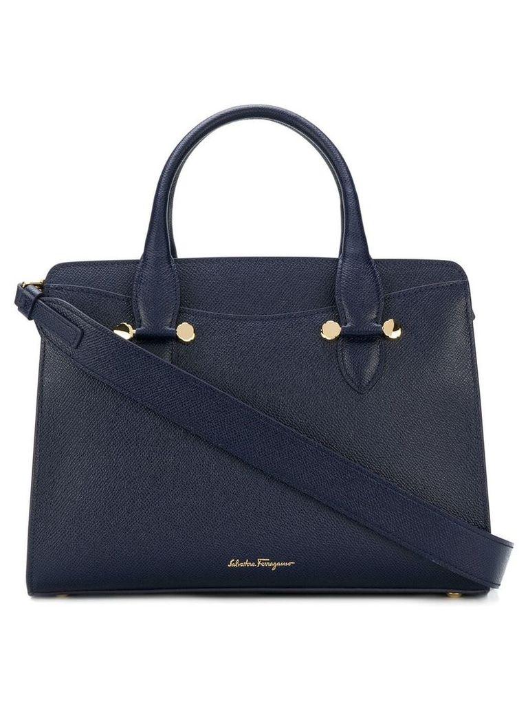 Salvatore Ferragamo Small Double Handle bag - Blue