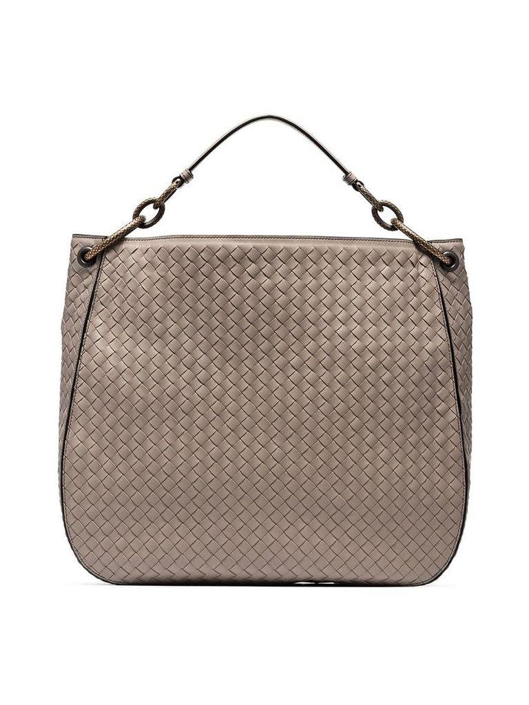 Bottega Veneta nude loop large leather tote bag - Neutrals