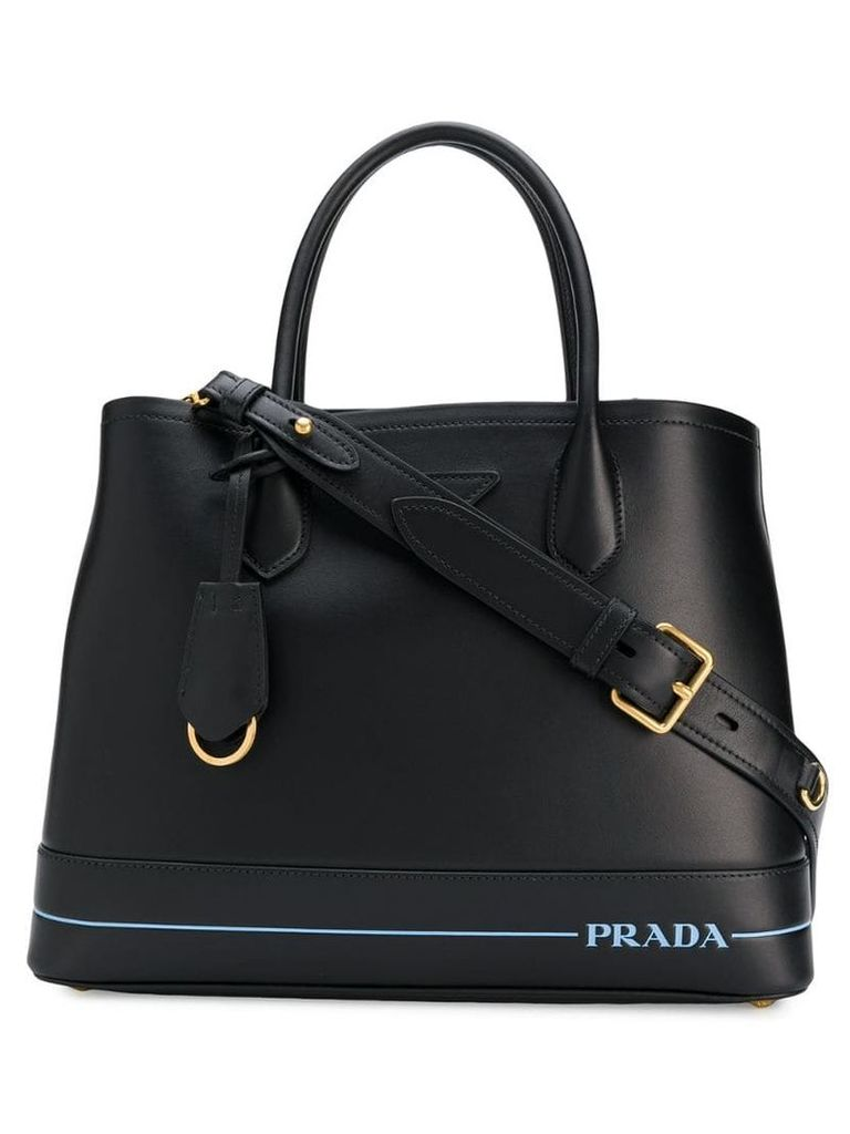 Prada logo tote bag - Black