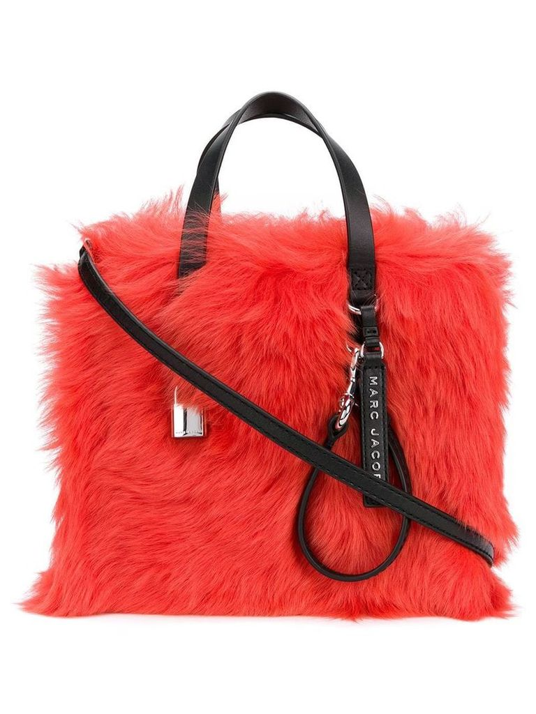 Marc Jacobs The Fur Mini Grind tote - Red