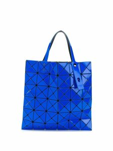 Bao Bao Issey Miyake triangular applique tote bag - Blue