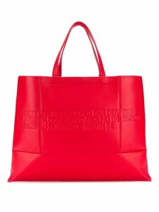 Calvin Klein 205W39nyc embossed logo tote bag - Red