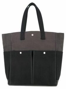 Cabas botanical tote bag - Grey