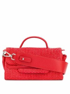 Zanellato flap woven tote - Red