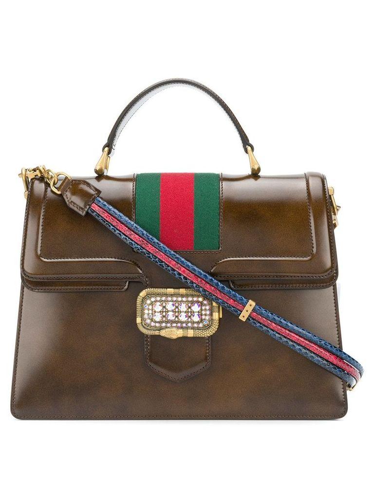 Gucci medium top handle tote - Brown