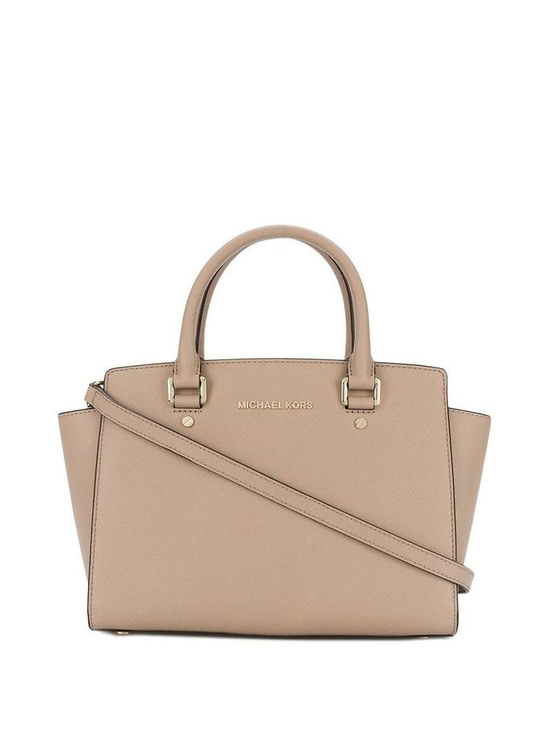Michael Michael Kors Selma Saffiano medium satchel - Neutrals