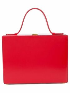 Mark Cross box tote - Red