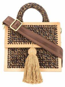 0711 Copa medium woven handbag - Multicolour