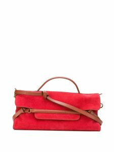 Zanellato leather trim tote - Red