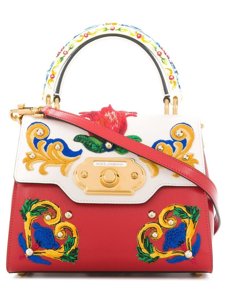 Dolce & Gabbana Welcome Majolica embroidered tote bag