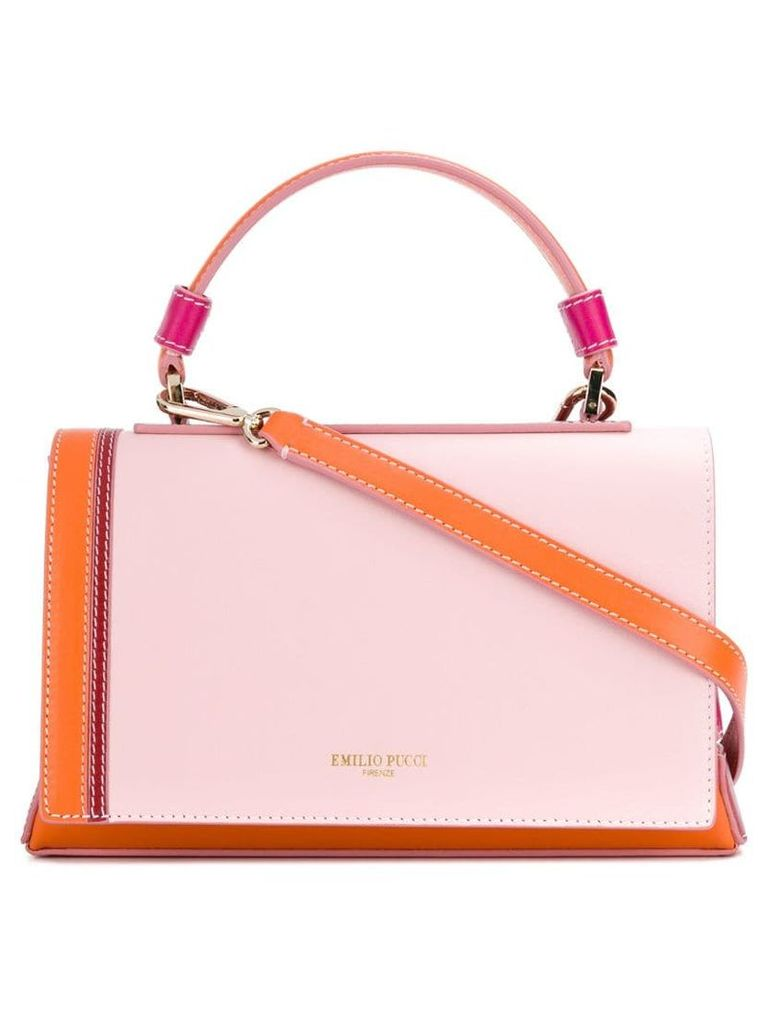 Emilio Pucci blockcolour flap tote bag - Pink
