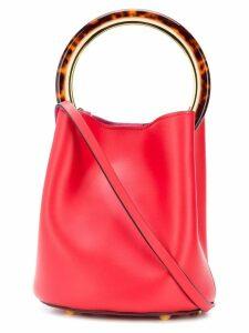 Marni tortoiseshell handle Pannier bag - Red