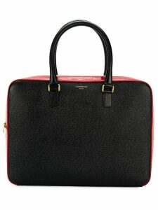 Thom Browne stripe business tote - Black