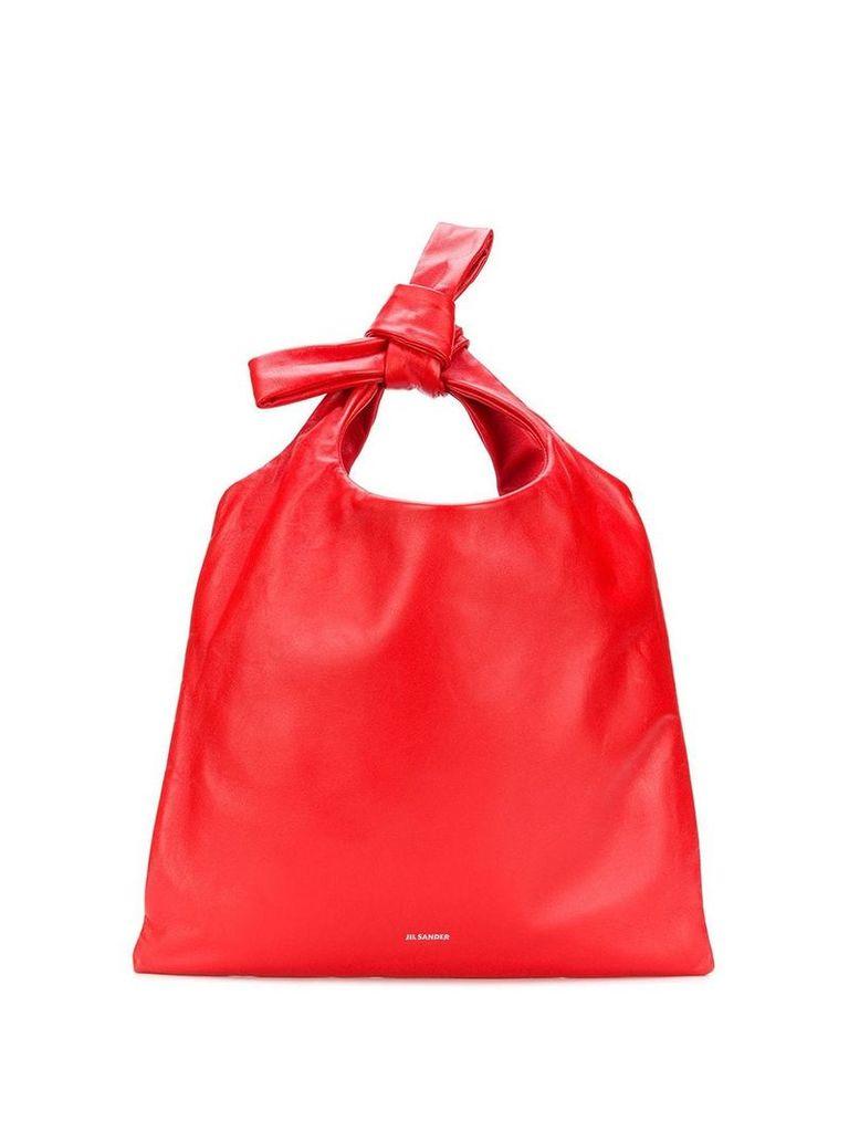 Jil Sander bucket tote - Red