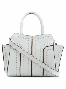 Tod's Sella studded tote - White