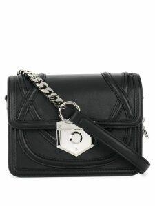 Alexander McQueen foldover top crossbody bag - Black