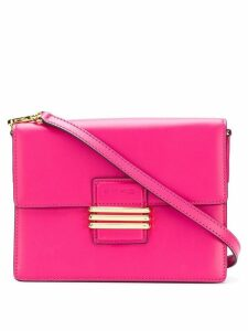 Etro embroidered strap cross-body bag - Pink
