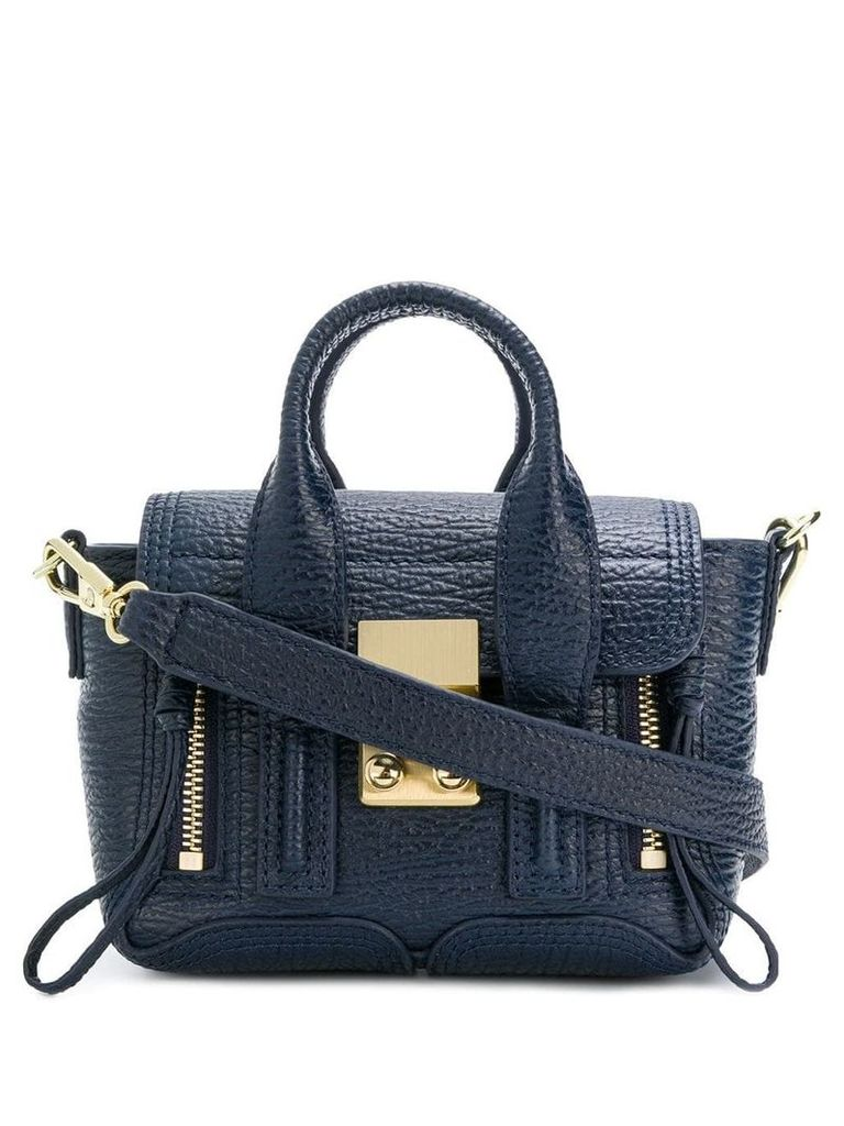 3.1 Phillip Lim zip-detail medium crossbody bag - Blue