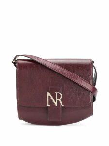 Nina Ricci logo plaque shoulder bag - Red