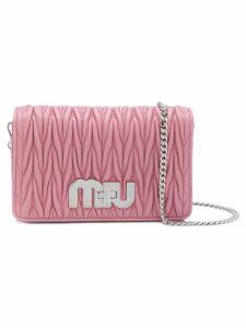 Miu Miu Miu logo quilted bag - Pink