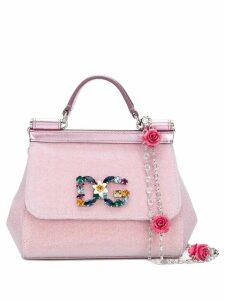 Dolce & Gabbana mini Sicily crossbody bag - Metallic