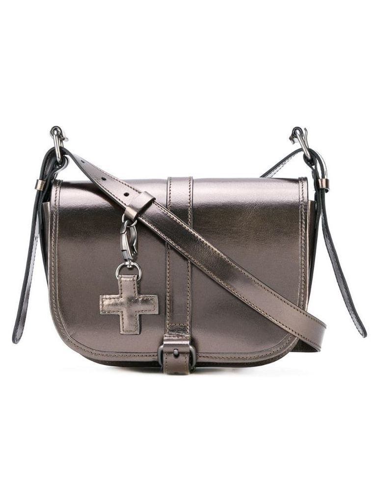 A.F.Vandevorst saddle crossbody bag - Grey