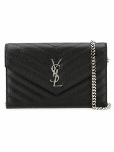 Saint Laurent 'Monogram' crossbody bag - Black