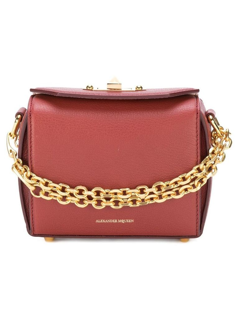Alexander McQueen Box leather bag - Pink