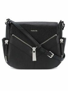Diesel zip applique satchel - Black