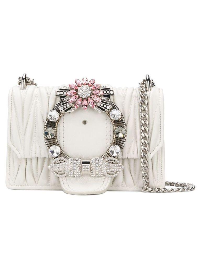 Miu Miu Miu Lady crossbody bag - White