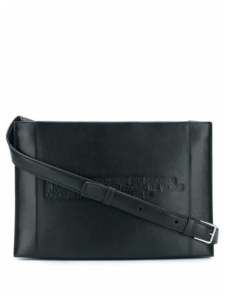 Calvin Klein 205W39nyc embossed crossbody bag - Black