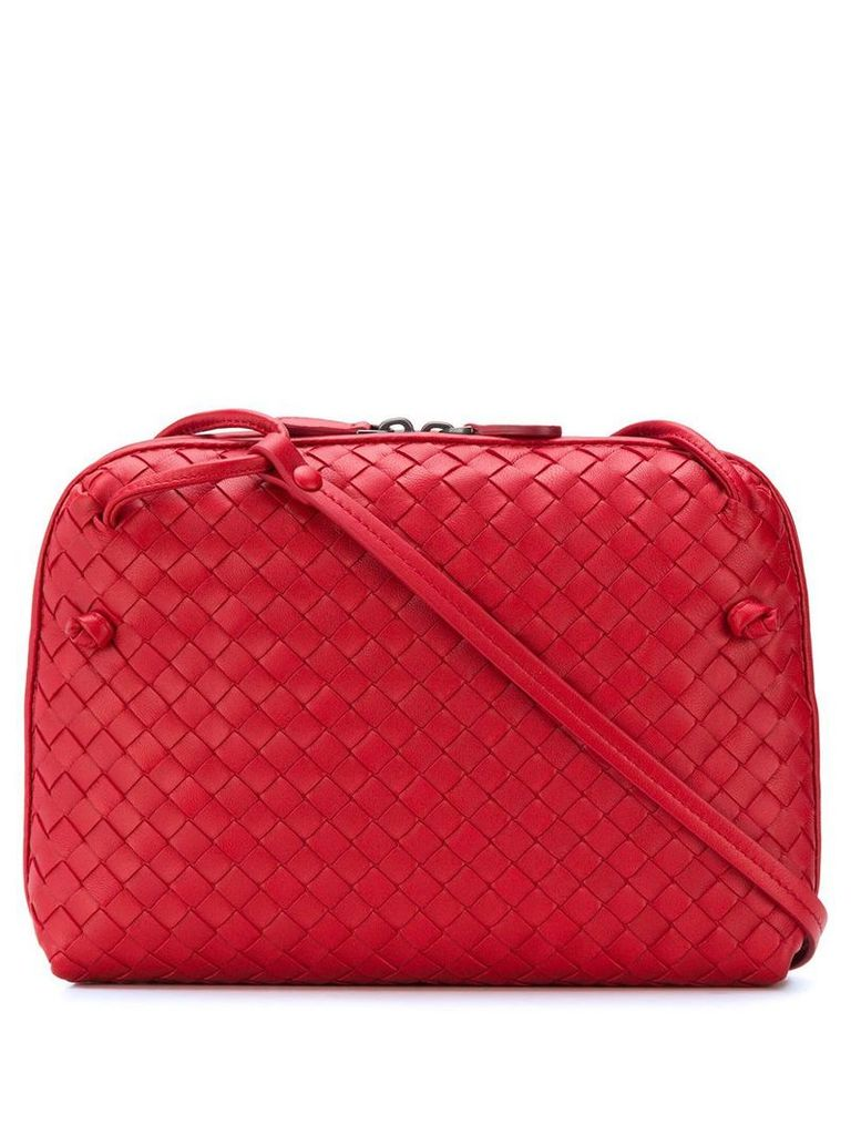 Bottega Veneta Intrecciato crossbody bag - Red