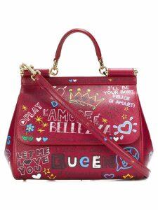 Dolce & Gabbana Sicily mural print tote - Red