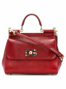 Dolce & Gabbana Sicily logo plaque bag - Red