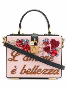 Dolce & Gabbana embellished Dolce box bag - Pink