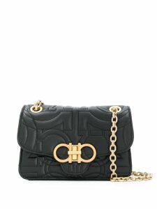Salvatore Ferragamo Gancio quilted leather bag - Black