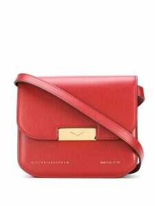 Victoria Beckham Eva foldover crossbody bag - Red