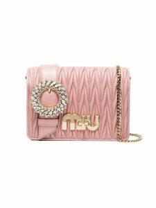 Miu Miu Pink Matelassé leather cross body bag