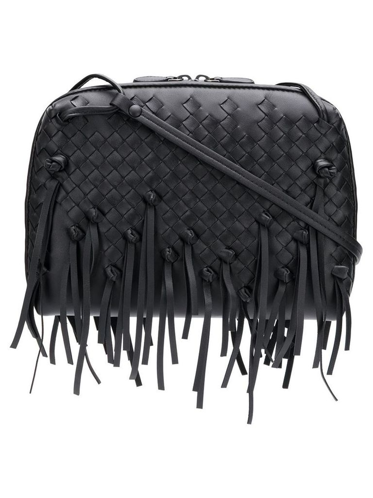 Bottega Veneta fringed nodini bag - Black