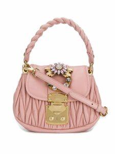 Miu Miu mini matelassé shoulder bag - Pink