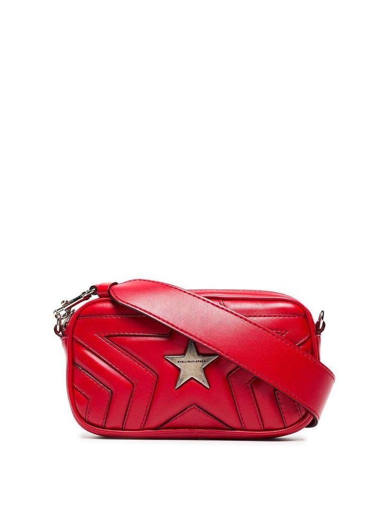 Stella McCartney red star PU crossbody bag