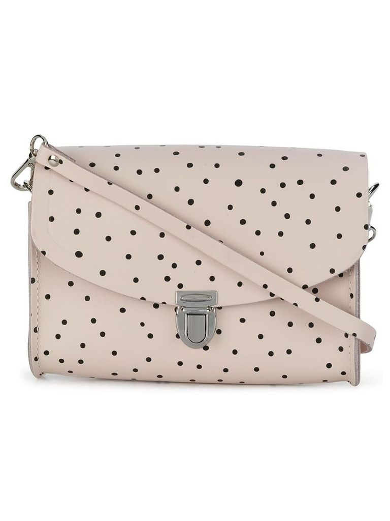 The Cambridge Satchel Company Medium Push Lock polka dot satchel -