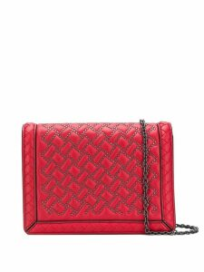 Bottega Veneta stud detail cross body bag - Red