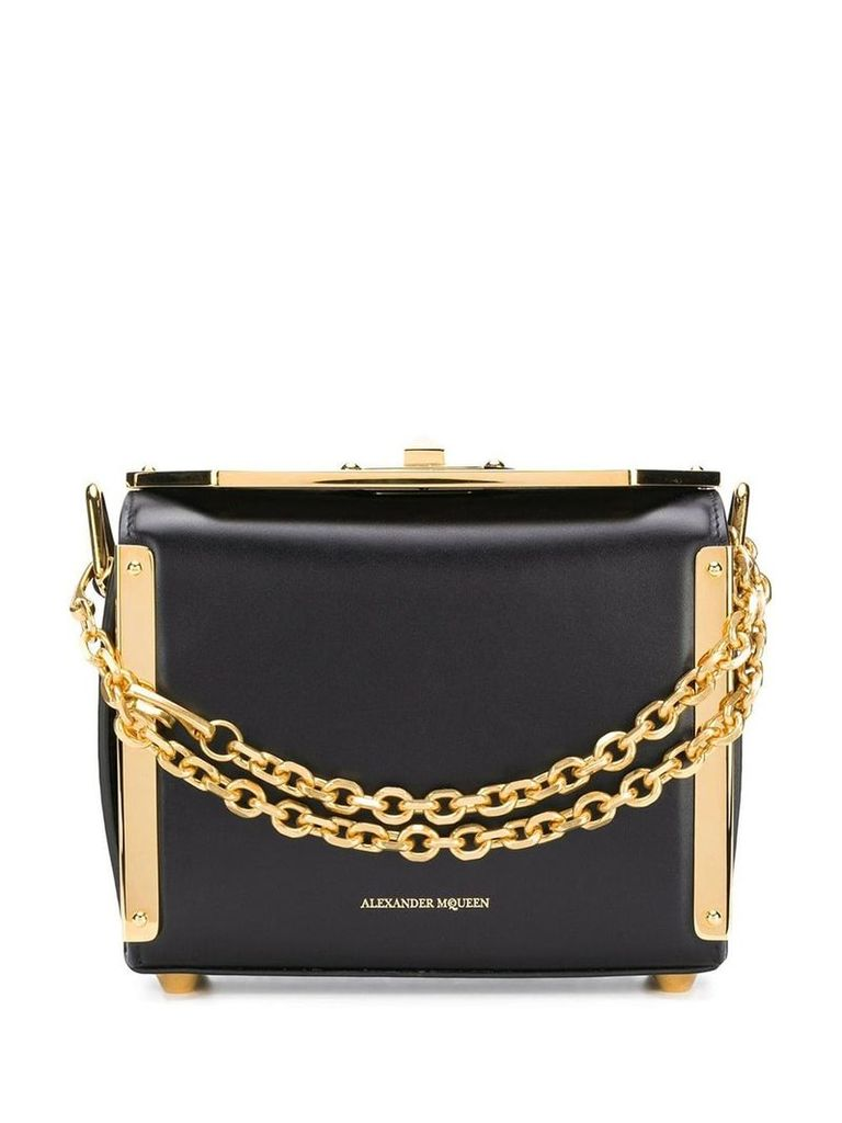 Alexander McQueen mini square crossbody bg - Black