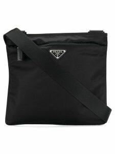 Prada logo plaque Vela cross-body bag - Black