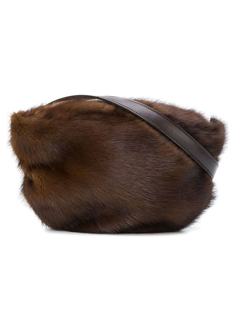 Simonetta Ravizza Furrissima belt bag - Brown