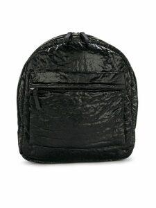 Andorine crushed velvet backpack - Black
