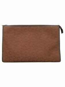 Céline Pre-Owned logo print beauty bag - Brown