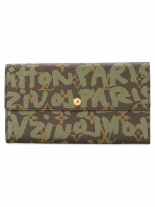 Louis Vuitton Pre-Owned graffiti monogram card holder - Brown