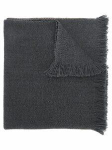 Hermès Pre-Owned fringed scarf - Grey